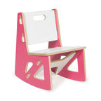 Quark Enterprises - Kids Rocking Chair, Pink/White - This contemporary rocking chair looks like the perfect place for a kid to relax. It would be a stylish addition to your playroom, and it's a breeze to put together without any tools required.