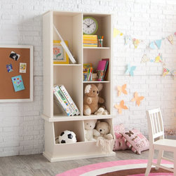 Classic Playtime - Classic Playtime Hopscotch Vanilla Tall Bookcase with Optional Stackable Storage - Shop for Childrens Bookcases from Hayneedle.com! The Classic Playtime Vanilla Tall Bookcase with Optional Stackable Storage Bin helps you keep books in order while also providing the flexibility of the included stackable storage bin. Durably constructed of MDF and wood veneers in a vanilla-colored finish this storage unit offers plenty of storage for books and other items. The component pieces feature a versatile stackable design that allows you to save valuable floor space and configure them as you see fit. Perfect for any child's room with its versatile finish and simple style this bookcase helps your little one start their very own library. Dimensions Stackable storage bin only: 32L x 15.75W x 19.25H inches Tall bookcase only: 32W x 14.5D x 49.25H inches Tall bookcase and stackable storage with sliding door: 32W x 14.5D x 68.5H inches About Classic PlaytimePlaytime doesn't require batteries or a screen and providing kids with a place to grow and learn doesn't require sacrificing your home's integrity. Classic Playtime is devoted to the idea that given constructive ways to explore their world and themselves children blossom in their own gardens. Our furniture is designed to be simple unique and functional in both kids' and adults' spaces. You'll find stylish and practical places for art activities reading writing building and somewhere to keep it all during downtime.