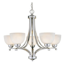Minka Lavery - Minka Lavery 1425-84 Paradox 5 Light Chandelier - Brushed Nickel Finish