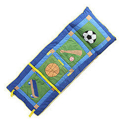 Hometex Collections - Sports Athletics Boys Sleeping-Slumber Nap Roll - Features: