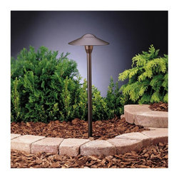 Kichler Lighting - Kichler Lighting 15310AZT Dome Path Light 12V Path & Spread Light, ... - The Kichler Lighting 15310AZT Dome Path Light Low Voltage Landscape Path and Spread Light is designed to be an unobtrusive, center-mount fixture that incorporates maximum light spread. Made of high quality aluminum, this functional light is finished in Textured Architectural Bronze that complements any setting. The 15310AZT measures 21-Inch in height and 8-1/4-Inch at its widest point and is installation-friendly with an 8-Inch in-ground stake that is included.  Features: -8-1/2-Inch wide by 21-Inch high -Includes one (1) 16.25-watt 12V incandescent T-5 wedge base bulb -Supplied with 8-Inch in-ground stake, 24-Inch of usable 18-2 gauge SPT-1-W lead wire and cable connector for easy installation -Requires a low voltage transformer (sold separately) for safe illumination -UL/CSA listed for wet locationDimensions: 0″ x 0″ x 0″.