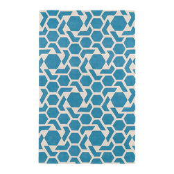 "Kaleen - Kaleen Revolution Collection REV05-17 2'3"" x 8' Blue - The color Revolution is here! Trendy patterns with a fashion forward twist of the hottest color combinations in a rug collection today. Transform a room with the complete color makeover you were hoping for and leaving your friends jealous at the same time! Each rug is hand-tufted and hand-carved for added texture in India, with a 100% soft luxurious wool."