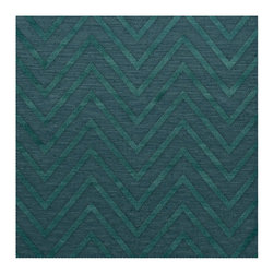 """Dalyn Rugs - Dalyn Rugs Dover DV4 Teal Rug DV4TE4SQ - """"Luxury"""", made in the USA. Stylish, tonal, geometric and floral designs. Textural cut and loop pile. 100% premium wool."""