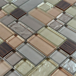 Home Elements - Metal Stone Glass Mosaic Tile, 1 Square Foot - Product Description: