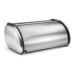 POLDER - Deluxe Bread Bin, Stainless Steel - This deluxe solid color bread storage container is a stylish way to keep your bread fresh. It keeps bread off of counter space and in one consolidated area providing more room for cooking. Its unique design and color also makes it an eye catcher. This box lets in just enough air so that loaves don't get soggy and crusts stay crisp.