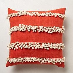 "Anthropologie - Tassel Trace Pillow - Side zipCotton, nylon; polyfillDry clean18"" squareImported"