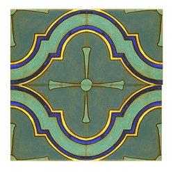 Mediterranean Ogee Medallion Pattern Would Make A