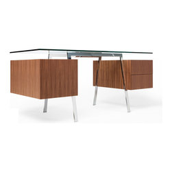 Bensen - Homework Desk 2 - The Homework Desk is an elegant and highly versatile work desk that is available in two sizes. Both desks can be ordered with single, double, or file drawers, and may be configured according to individual needs. Attractive from all sides and made from select materials, Homework is ideal for the home or office where a desk will be on view.
