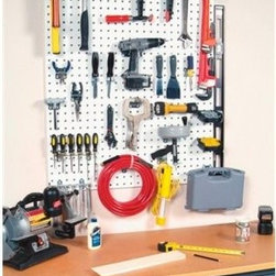 Triton LocBoard Pegboard with Hooks - Don't just hang a flimsy pegboard on the wall and hope it'll hold your tools - secure your stuff with the Triton LocBoard Pegboard with Hooks. This Triton system incorporates the LocBoard and compatible LocHooks for true commercial-grade security in an uncomplicated design. LocHooks offer 2- and 4-point contact locking mechanism for maximum holding ability. This set comes with a wide variety of hooks that accommodate tools from small to large and light to very heavy.About Triton ProductsWith more than 25 years of proven solutions and innovative designs, Triton Products is the logical choice for your personal storage systems. These custom products can be found in tens of thousands of service, maintenance, and manufacturing facilities worldwide. Every state-of-the-art tool has been ergonomically designed and thoroughly tested to ensure durability and effectiveness. Triton is guided by a dedication to design quality products, patent useful new features, and provide excellent customer service. With Triton's help, it's easy to get and stay organized.