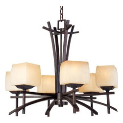 Maxim Lighting - Maxim Lighting 10985WSRC Asiana 6-Light Chandelier In Roasted Chestnut - Features