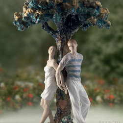 Lladro The Tree of Love Sculpture - Lladro The Tree of Love Figurine 01008580 - Size: 19.5 Inches Tall x 12 Inches Wide - Sculpted By: Ernest Massuet - Hand Made In Spain