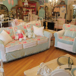 vintage chic furniture schenectady ny - sofa chair and ottoman. past project i have done