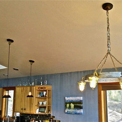 Insulator Light Wine Barrel Hoop Chandelier - Railroadware