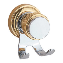 Renovators Supply - Robe Hooks Chrome & Brass Robe Hook - Robe Hooks: Part of our Spectrum Bath Collection this robe hook is chrome with a brass accent.