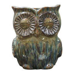 Alpine - Owl Planter - TOM180 - Features:
