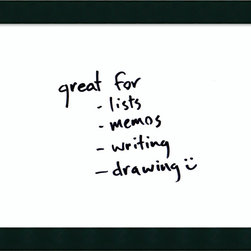 Amanti Art - 'Tribeca Glass Dry-Erase Board - Medium' Framed Art Print 32 x 26-inch - Perfect for writing and drawing, this glass message board works with standard dry erase markers (not included). This Tribeca Glass Dry-Erase Board features an impressive black frame with a distinctive raised surface.
