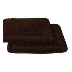 Classic Spa Collection Memory Foam Bath Mat Set Of 2