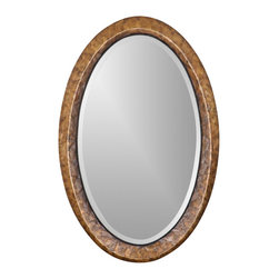 Uttermost - Carolyn Kinder Capiz Vanity Mirror - Designer: Carolyn Kinder. Mirror has a generous 1.25 in. bevel. Made of Glass, MDF, and Metal. 22 in. W x 2 in. D x 34 in. HHeavily antiqued capiz shell with metal rope details.