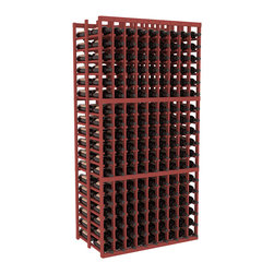 Wine Racks America - 9 Column Double Deep Cellar in Ponderosa Pine, Cherry - This beautiful and highly efficient 9 column wine rack kit only takes about 3 feet of wall space but holds 36 bottles per column. That is a total of 324 bottles (or 27 cases) in one rack! Double deep storage is ideal for restaurants, bars and private collectors as we stand behind our products and their quality. Those are guarantees.