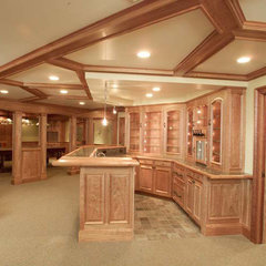 traditional basement by Skiffington Homes