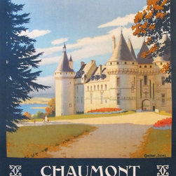 Consigned 1927 Original French Travel Poster, Chaumont - Duval - This original French travel poster advertises the city of Chaumont, which stands on the Marne River and is situated on the railway linking Paris and Basel. Hisotrically, Chaumont was the venue of an offensive treaty against Naopealon I signed in 1814. This poster was commissioned by the early French railway Chemins de fer de Paris a Orleans (PO) and designed by Constant Duval. Linen backed and in excellent condition.