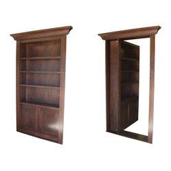 Recent Projects - Bookcase secret door by Creative Home Engineering