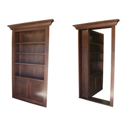 Recent Projects - Bookcase secret door by Creative Home Engineering