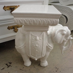 Elephant Garden Seat by Circa Who - An elephant garden seat is a whimsical and fun choice.