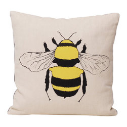 Ortolan Organic - Bee Pillow - We can't stop buzzing about this pillow because we think it's just so bee-autiful. Yeah, we went there.
