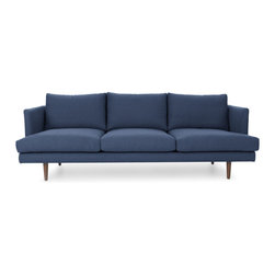 Bryght - Blue Mid-Century Modern Sofa | Carl Mid-Century Modern Furniture - Mid century inspired design, the Carl sofa is as comfortable as it is decadent.