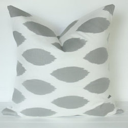 Gray Eye Pillow Cover by The Lacey Placey - I'm loving the subtle gray on this pillow case.