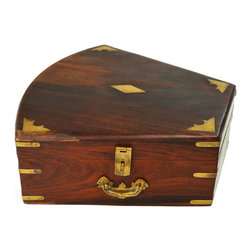 Lavish Shoestring - Consigned Sextant Wooden Box Brass Fittings, Antique English, 19th Century - This is a vintage one-of-a-kind item.