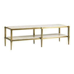 Aquarius - Aquarius Onyx Cocktail Table in Gold Finish - Aquarius - Coffee Tables - 014211608 - About the Aquarius Collection:
