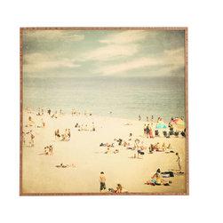 Shannon Clark Vintage Beach Framed Wall Art - Bamboo frame with high gloss print