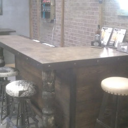 PlanksUSA Showroom in progress: The Bar - Drinks are on the house...