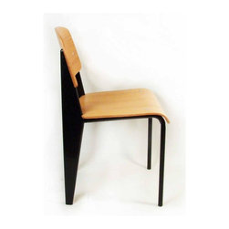 Control Brand - Standard Side Chair (Black) - Color: BlackDesigned by Jean Prouve. Powder-coated sheet steel and round steel frame. Made from plywood. 19 in. W x 16.5 in. D x 32 in. H (15.4 lbs.)The Standard Chair designed in 1934 is one of the most collectible modern chairs. A combination of durability and practicality, the chair is simply classic and timeless.