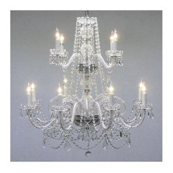 Gallery - Gallery T40-113 Authentic 12 Light 2 Tier Chandelier - Features:
