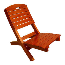 Proman - Adirondack Outdoor Lounge Chair, Solid Wood - Adirondack Outdoor Lounge Chair, solid wood. Chinese cedar with cherry finish. Color: Chinese Cedar Wood. Easy to Store Sturdy Construction