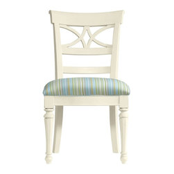 Stanley Furniture - Coastal Living Cottage-Sea Watch Side Chair - Combine a filigree back and chamfered legs and you've got reason to sit a little longer. Gently bowed arms are comfortable, yet narrow enough to cup in your palm.
