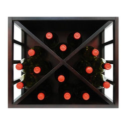 Vinotemp - Epicureanist Stackable Diamond Wine Rack - Made from durable hardwood. Rich dark brown finish. Fits 12 bottles. 19.09 in. W x 10.69 in. D x 15.75 in. H (8 lbs.). Epicureanist collection. Lead time: 3 to 5 days. Compact design. Warranty. Owner's manualThe Epicureanist Stackable Diamond Wine Rack perfect for counter top placement.