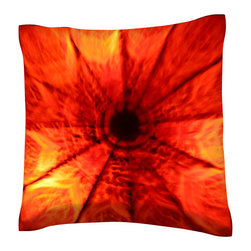 Custom Photo Factory - Vibrant Colorful Pattern Pillow.  Polyester Velour Throw Pillow - Vibrant Colorful Pattern Pillow. 18 Inches x 18  Inches.  Made in Los Angeles, CA, Set includes: One (1) pillow. Pattern: Full color dye sublimation art print. Cover closure: Concealed zipper. Cover materials: 100-percent polyester velour. Fill materials: Non-allergenic 100-percent polyester. Pillow shape: Square. Dimensions: 18.45 inches wide x 18.45 inches long. Care instructions: Machine washable