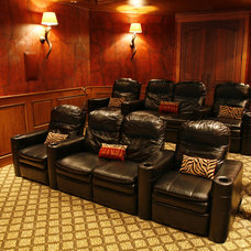 Eclectic Home Theater by Interior Expressions