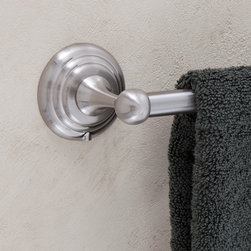Lotus Flower Towel Bar - The stepped round base with a sleek ball detail completes the look of the Lotus Flower Collection Towel Bar.