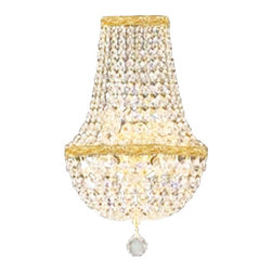 The Gallery - Swarovski crystalrimmed chandelier - Empire Crystalall Sconce W/SwarovskiCr - This beautiful chandelier is trimmed with Sprectra crystal reliable crystal by Swarovski. Swarovski is the world's leading manufacturer of high quality crystal. Sprectra crystal Swarovski undergoes stringent quality control and offers the best crystal uniformity of sparkle, light reflection and Sprectral colors. Sprectra crystal reliable crystal by Swarovski trimmed WALL SCONCE. Whether placed in a hallway, dining room, or foyer these magnificent wall sconces makes the ultimate statement. True to the empire original, these wonderful wall sconces are made of the finest materials and are fashioned in the same manner that European artisans have used for generations. dressed with Sprectra crystal reliable crystal by Swarovski , these wall sconce are characteristic of the grand wall sconces which decorated the finest Chateaux and Palaces across Europe. They reflects an era of class and elegance, and are sure to lend a special atmosphere in every home.