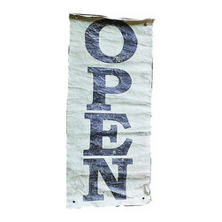 """Creative Co-op - Casual Country Fabric """"Open"""" Wall Plaque by Creative Co-op - Hang this fabric """"Open"""" sign in your home for a warm welcome! Made from cotton."""