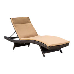 Great Deal Furniture - Single Caramel Cushion Pad For Outdoor Chaise Lounge Chair - Made of water-resistant fabric designed to withstand the elements, this cushion was designed to perfectly fit our adjustable outdoor chaise lounge chair. (Chaise lounge chair is not included)