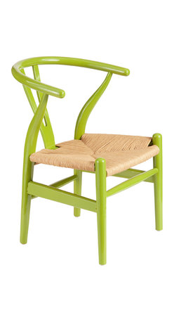 ZUO ERA - Baby Grant Chairs, Green/Natural Wicker, Set of 2 - Baby Grant Chair Green & Natural Wicker
