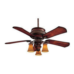 "Minka Aire Fans - Craftsman Outdoor Ceiling Fan by Minka Aire Fans - Inspired by Craftsman architecture of the 1900s, the Minka Aire Craftsman Outdoor Ceiling Fan is durable enough to use both indoors and outdoors. Includes 3 galvanized steel downrods (3.5"" and 6""), a light kit with enclosed glass shades and a full-function wall control system. The Minka Group, located in Corona, CA, offers a variety of products, including Minka Aire fans, Minka Lavery lighting, and George Kovacs fans and lighting."