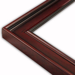 The Frame Guys - Classic Dark Mahogany Picture Frame-Solid Wood, 10x10 - *Classic Dark Mahogany Picture Frame-Solid Wood, 10x10