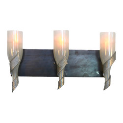 "Wine Country Craftsman - Elegance - ""Sophistication"" - Vanity Light - Elegance - ""Sophistication"" - Vanity Light - 100% Recycled"